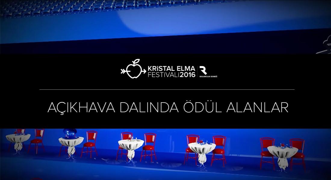 Açıkhava Kategorisinde Ödül Kazananlar [Kristal Elma 2016]