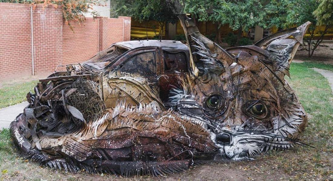 Bordalo II, Çöpten Yaptığı Hayvan Heykellerine Yenilerini Ekledi