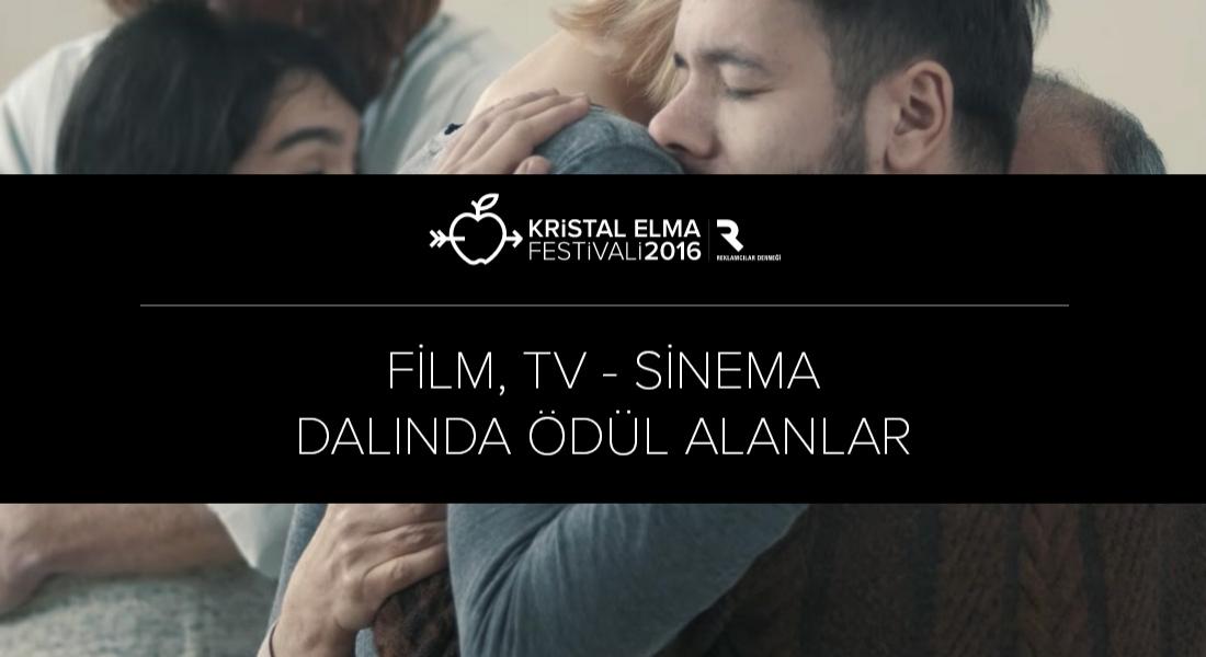 Film, TV – Sinema Kategorisinde Ödül Kazananlar [Kristal Elma 2016]