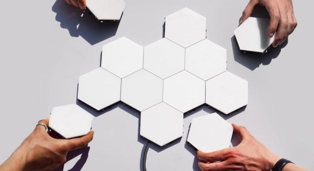 Duvar Mozaiğine Benzeyen Modüler Aydınlatma Sistemi