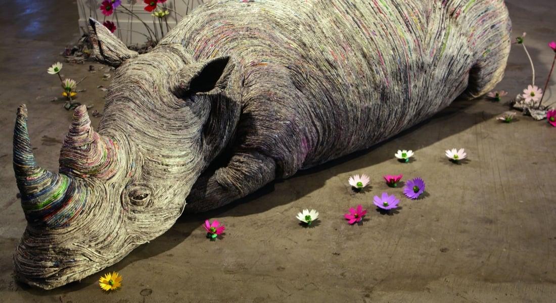 Gazete Kağıdından Yapılmış Kişilik Sahibi Hayvan Heykelleri