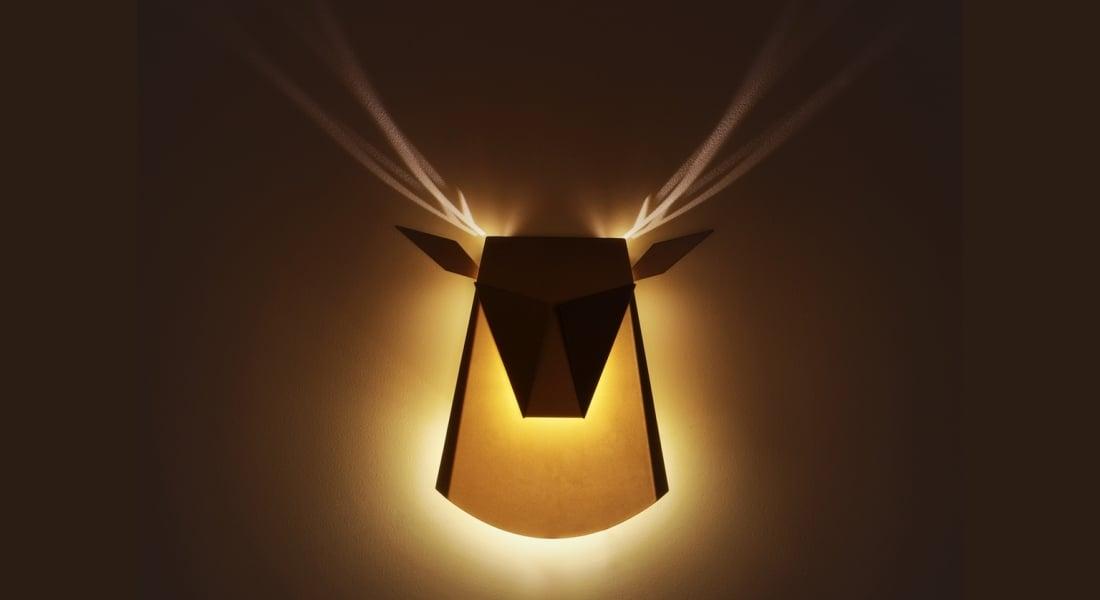 Işıkla Kendini Tamamlayan Origami Stilinde LED Aydınlatmalar