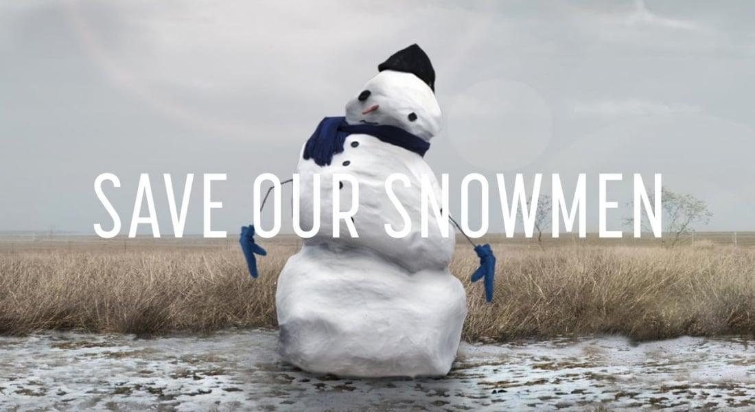 İklim Değişikliğinden Etkilenen Kardan Adamları Kurtarma Kampanyası