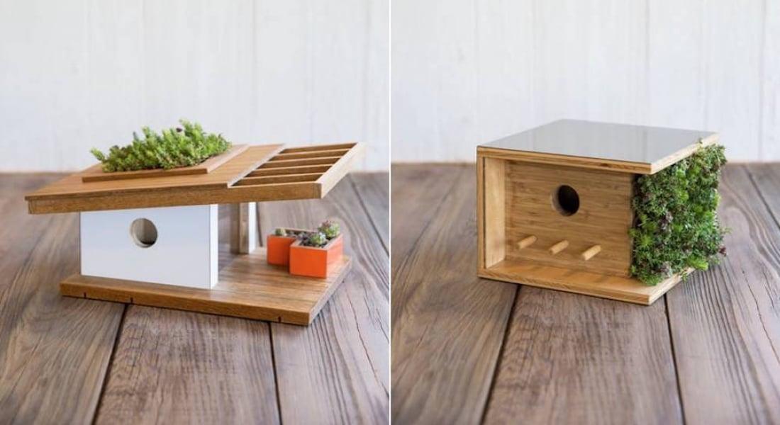 Modern Mimari Estetiğini Kuş Evlerine Uygulayan Tasarımlar