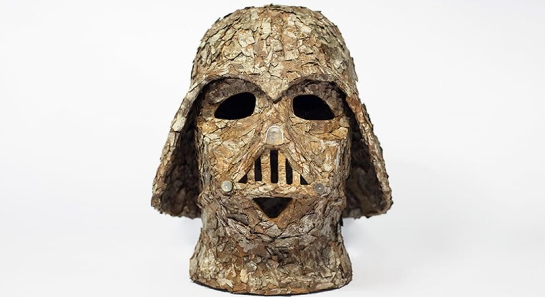 Ağaç Kabuğuyla Yeniden Yaratılan Darth Vader Başlığı