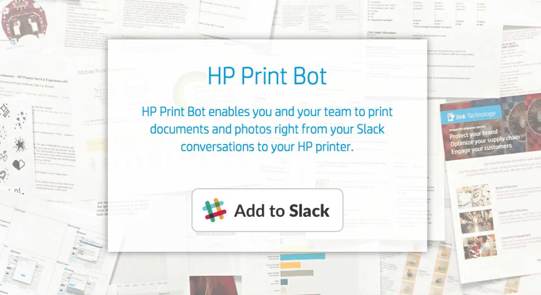 HP Print Bot ile Slack'ten Doğrudan Çıktı Almak Artık Mümkün