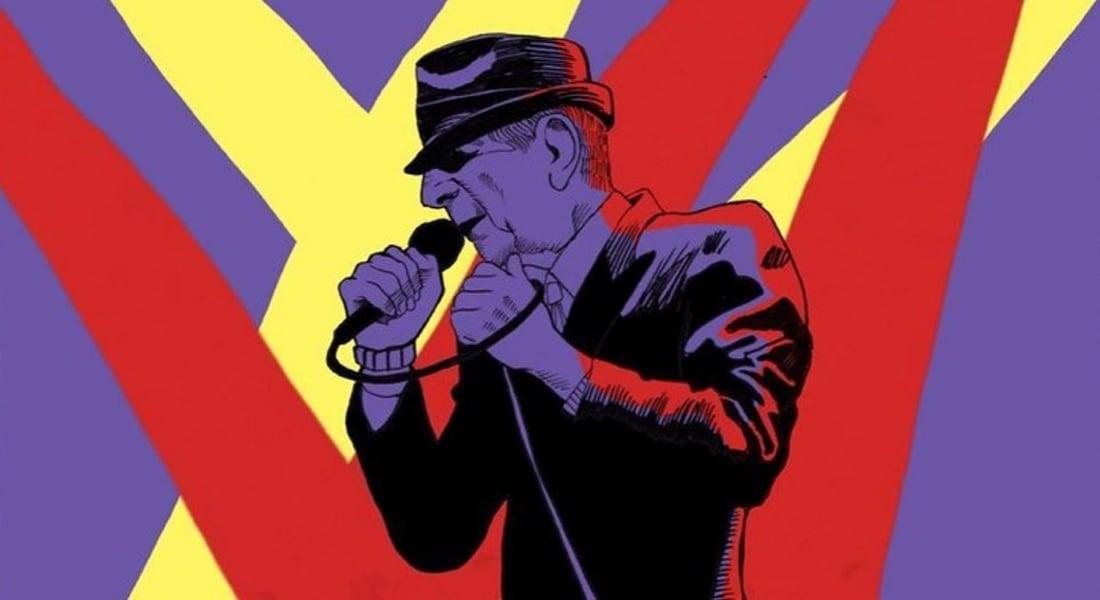 İllüstrasyonlarla Leonard Cohen'in Kariyerinin Son Dönemi