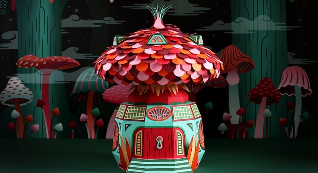 Hermès Vitrininde El Yapımı Orman