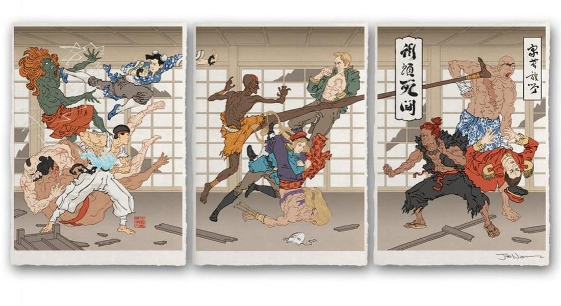 Ukiyo-e ile Yeniden Yaratılan Anime ve Video Oyun Karakterleri