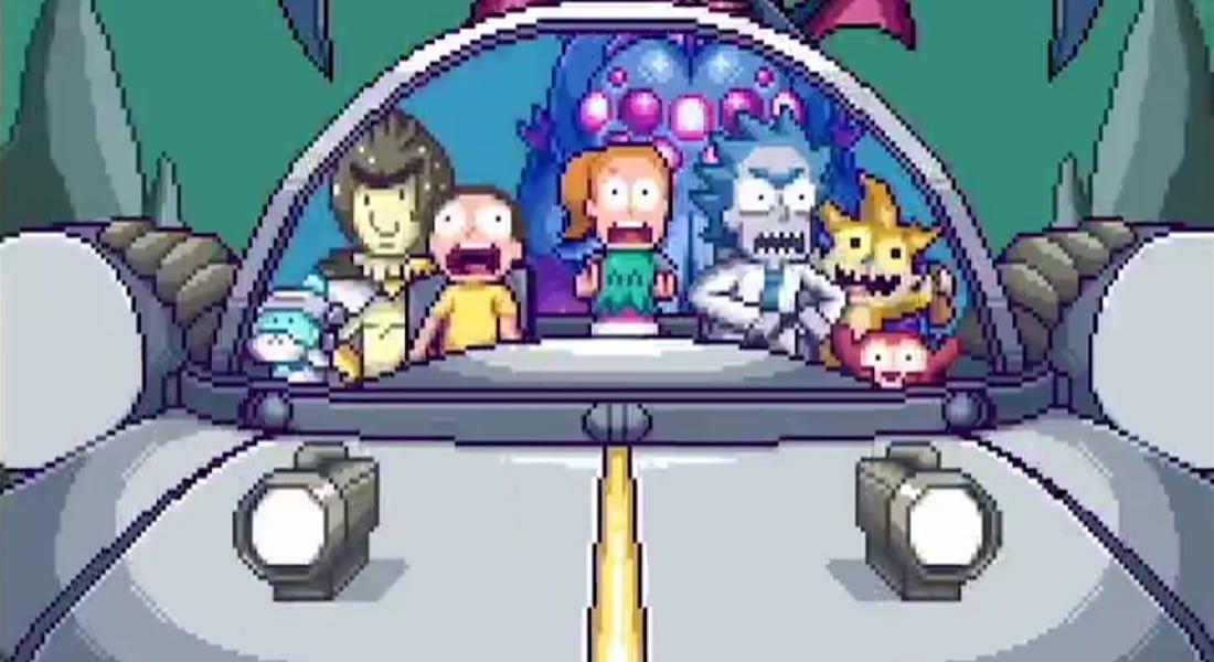 Rick and Morty'den 16-bit Açılış Jeneriği