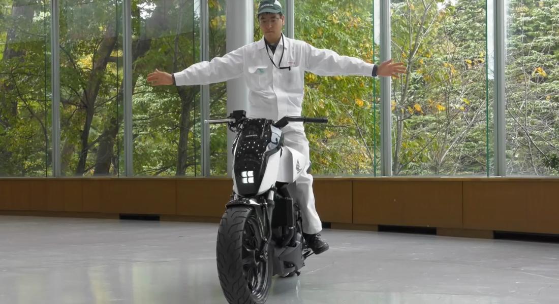 Honda'dan Kendi Kendine Dengede Durabilen Motosiklet