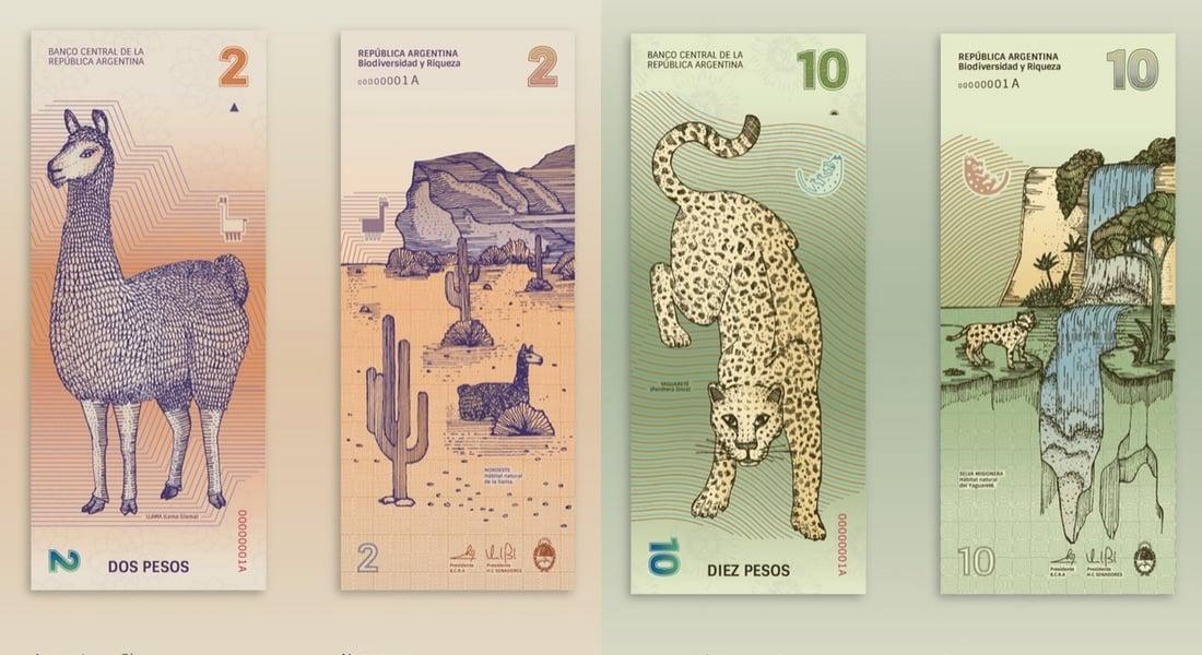 Arjantin'in Doğal Dokusundan Beslenen Banknot Tasarımları