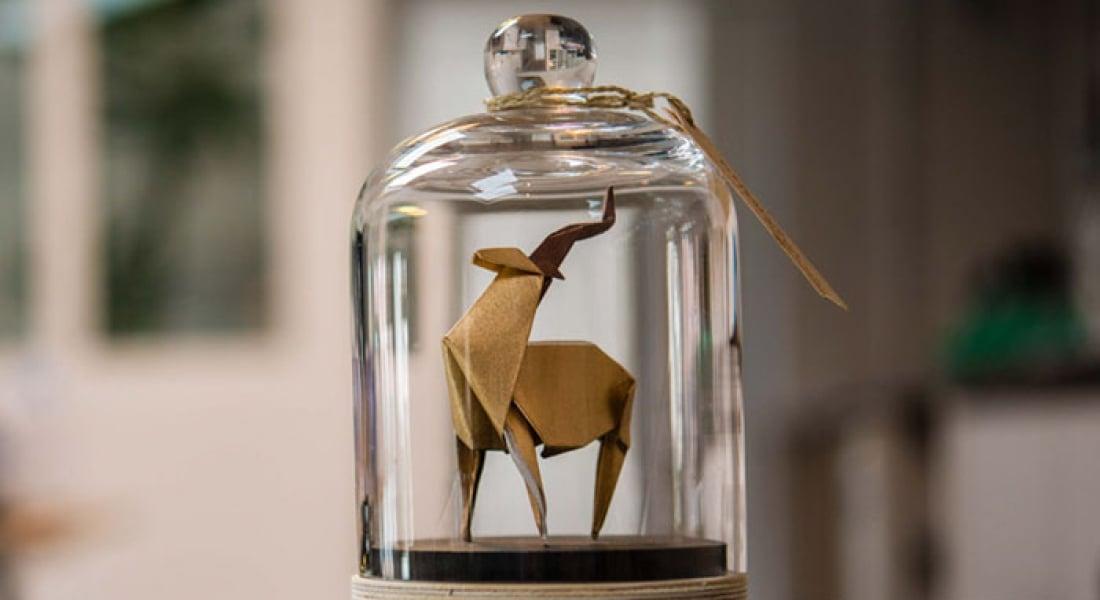Cam Fanuslarda Korumaya Alınan Origami Eserleri