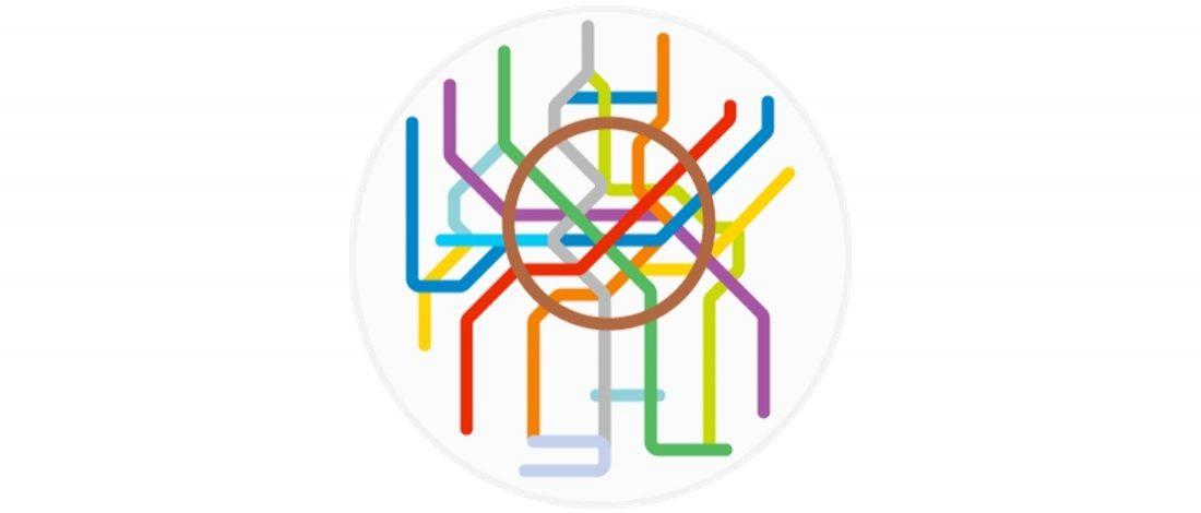 220 Farklı Metro Hattının Minimal Haritaları