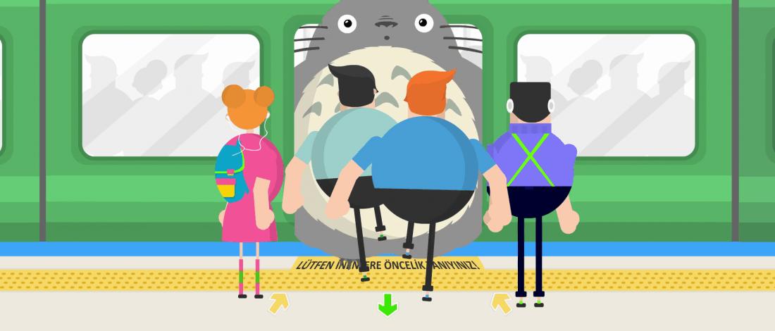 Metrodan Totoro İnse Yol Verir Miydiniz?