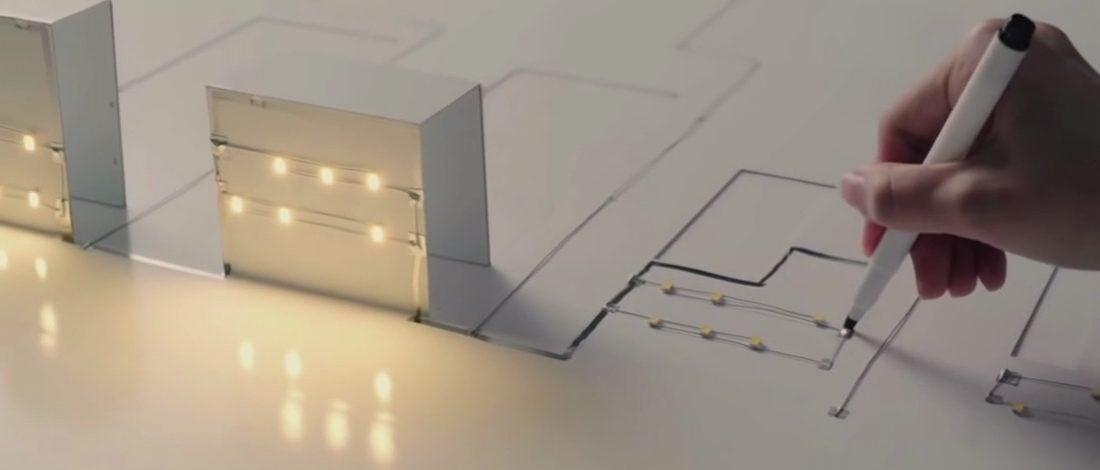 Kağıt Üzerine Elektrik Devreleri Çizen Kalem