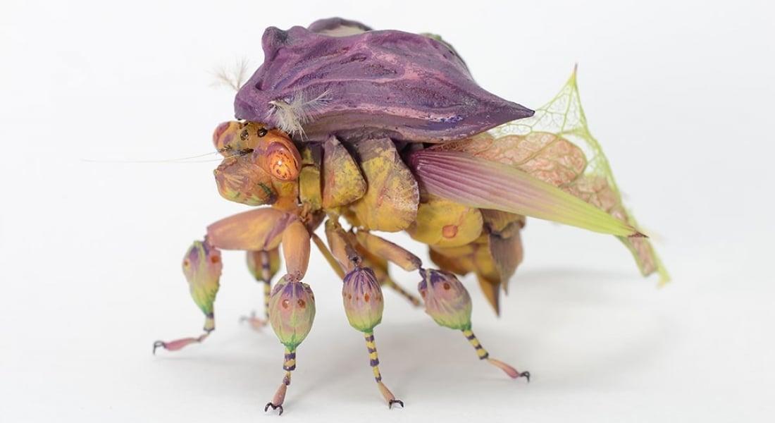 Yaprak Formlarıyla Yaratılmış Fantastik Böcekler