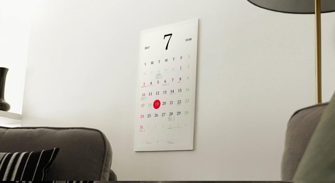Google Takvim ile Senkronize, Kağıt Görünümlü Elektronik Takvim