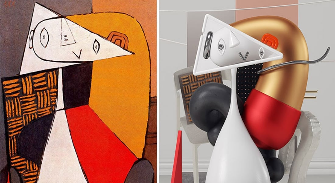 Picasso Tablolarının 3 Boyutlu Grafik Versiyonları
