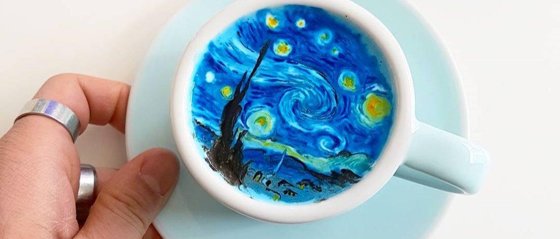 Renkli Çizimlerle Kahve Sanatına Yeni Bir Boyut