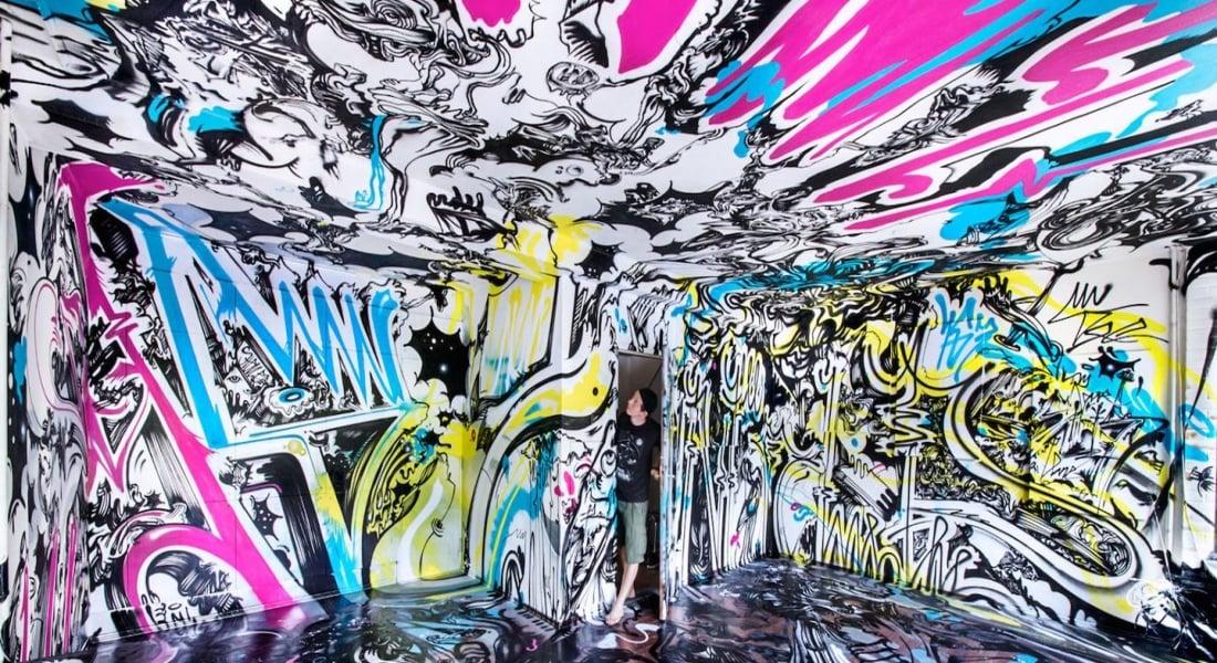 165 Sokak Sanatçısı Berlin'deki Terk Edilmiş Bir Binayı Ele Geçirdi