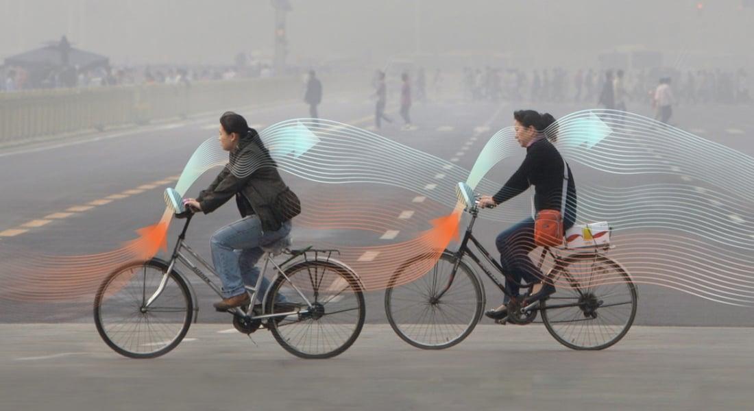 Pedal Çevirirken Temiz Hava Solumayı Sağlayan Bisiklet