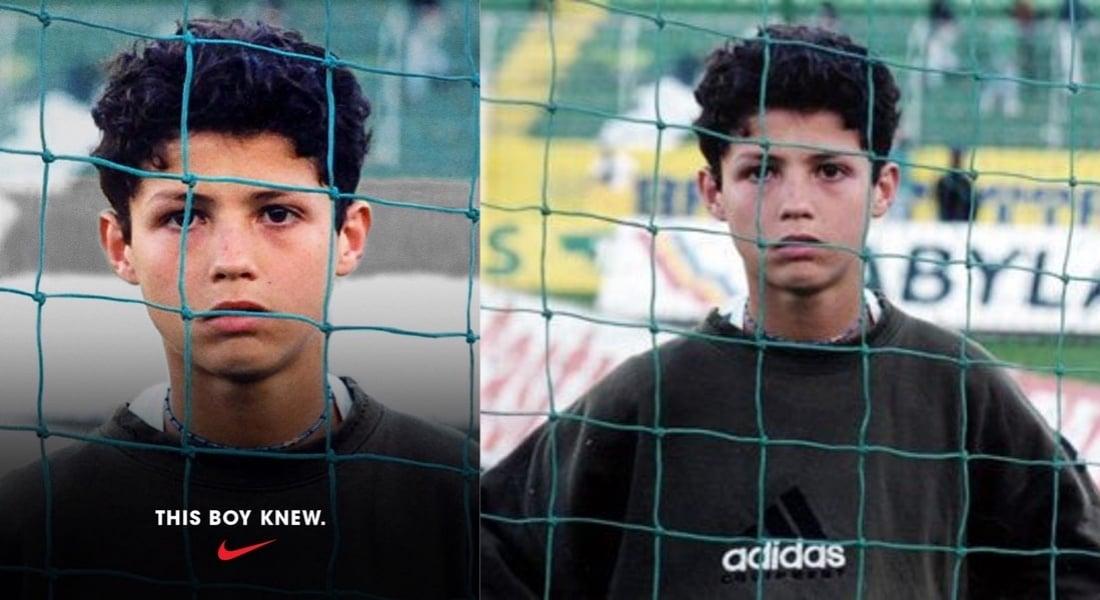 Nike'nin Cristiano Ronaldo'dan Kırptığı Adidas Logosu