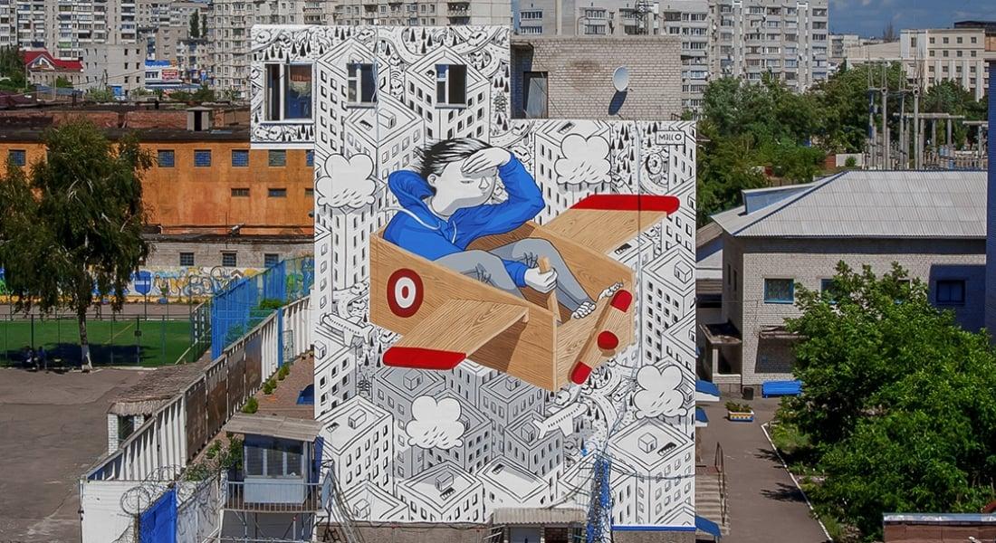 Şehrin Soğuk Duvarlarını Çocuksu Bir Evrene Dönüştüren Murallar