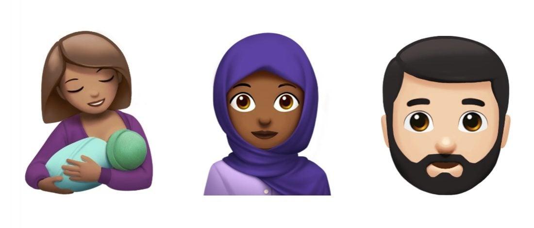 Apple'ın Başörtülü Kadın, Emziren Kadın ve Nice Yeni Emojisi