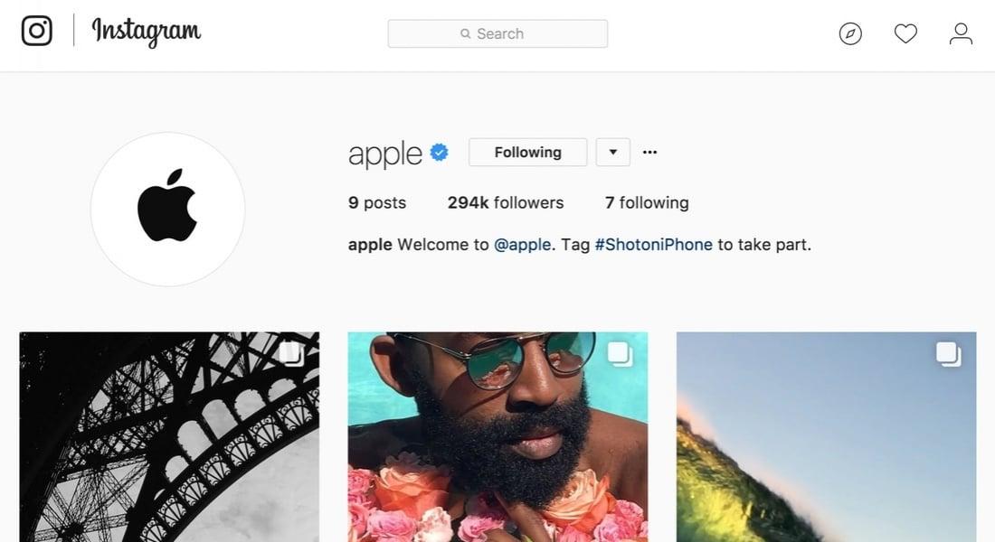 Apple Tek Bir Amaçla Instagram'a Katıldı