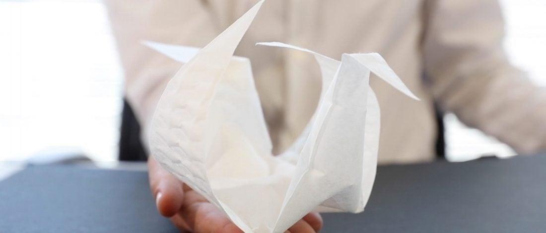 MIT'den Origami gibi Katlanan Kumaş