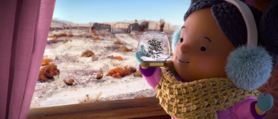 Sıcak Bir Ülkede Kar Düşleyen Küçük Kız