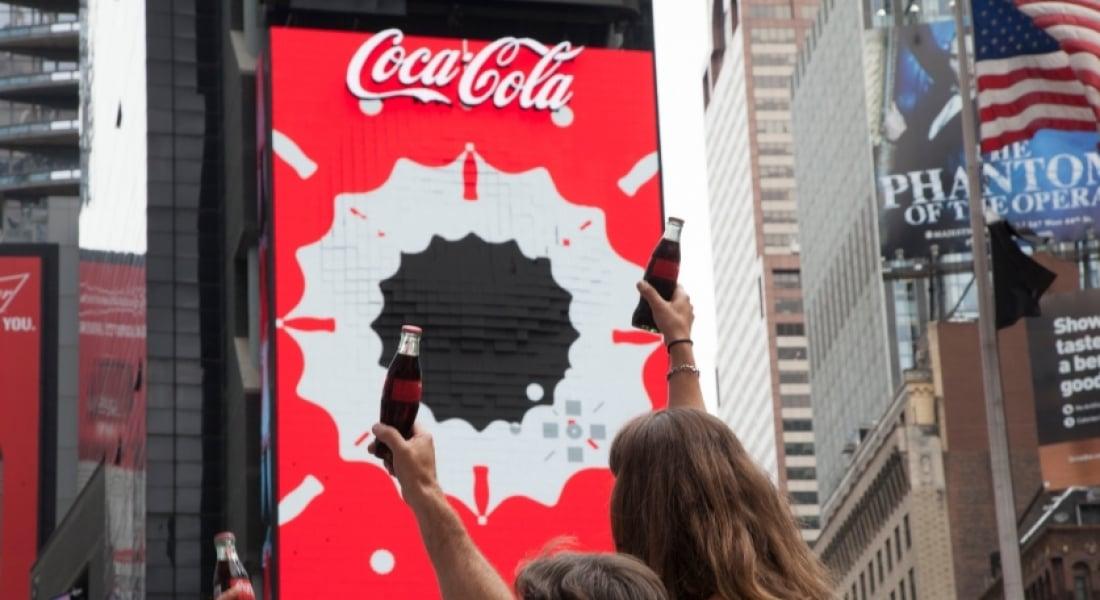 Coca-Cola'nın Times Meydanındaki Yeni 3 Boyutlu Robotik LED Panosu