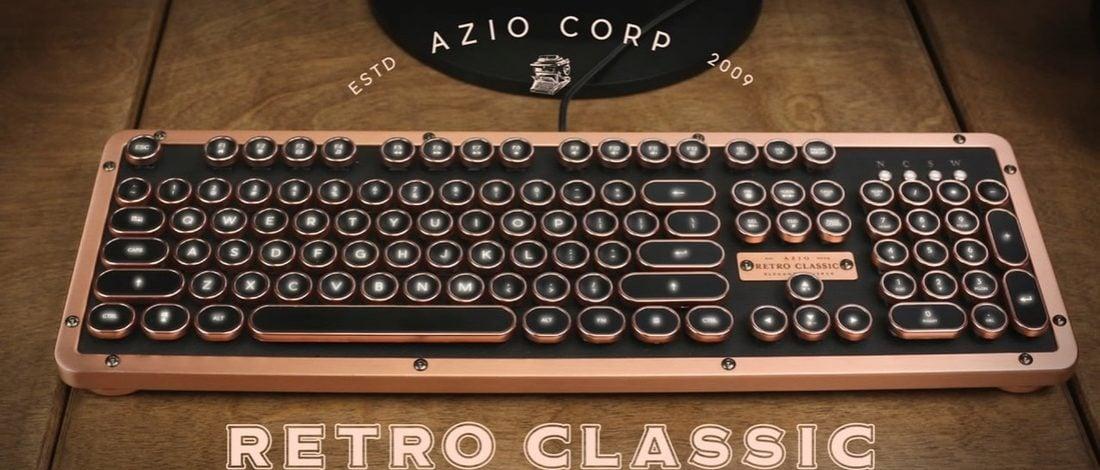 Lüks Tasarımlı Daktilo Klavye: Azio