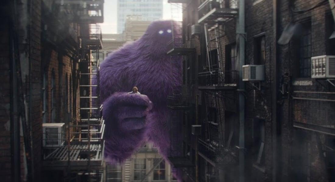 King Kong'a Öykünen Mor Canavar