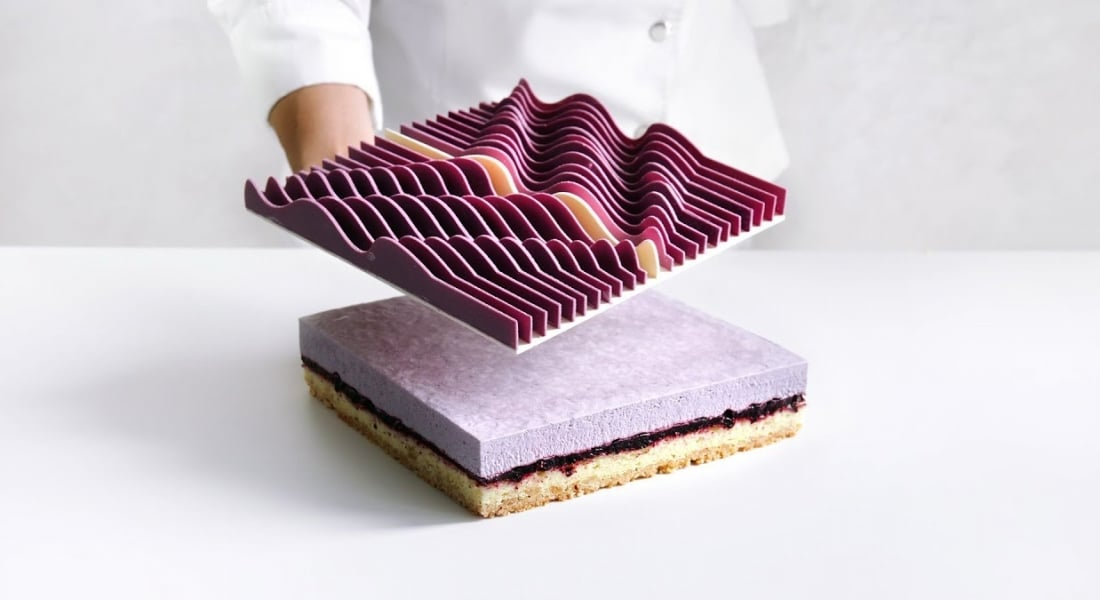 3B Baskı Kalıplarla Yaratılan Geometrik Pastalar