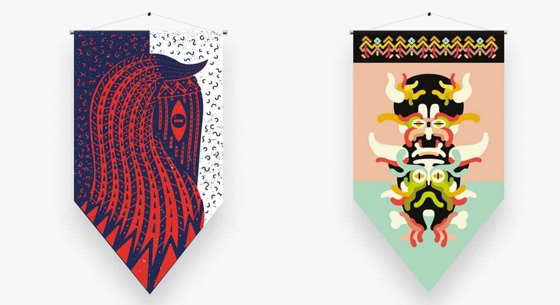 Krüw'ün FLAGZ Sergisinde Tasarladığı Bayraklar!