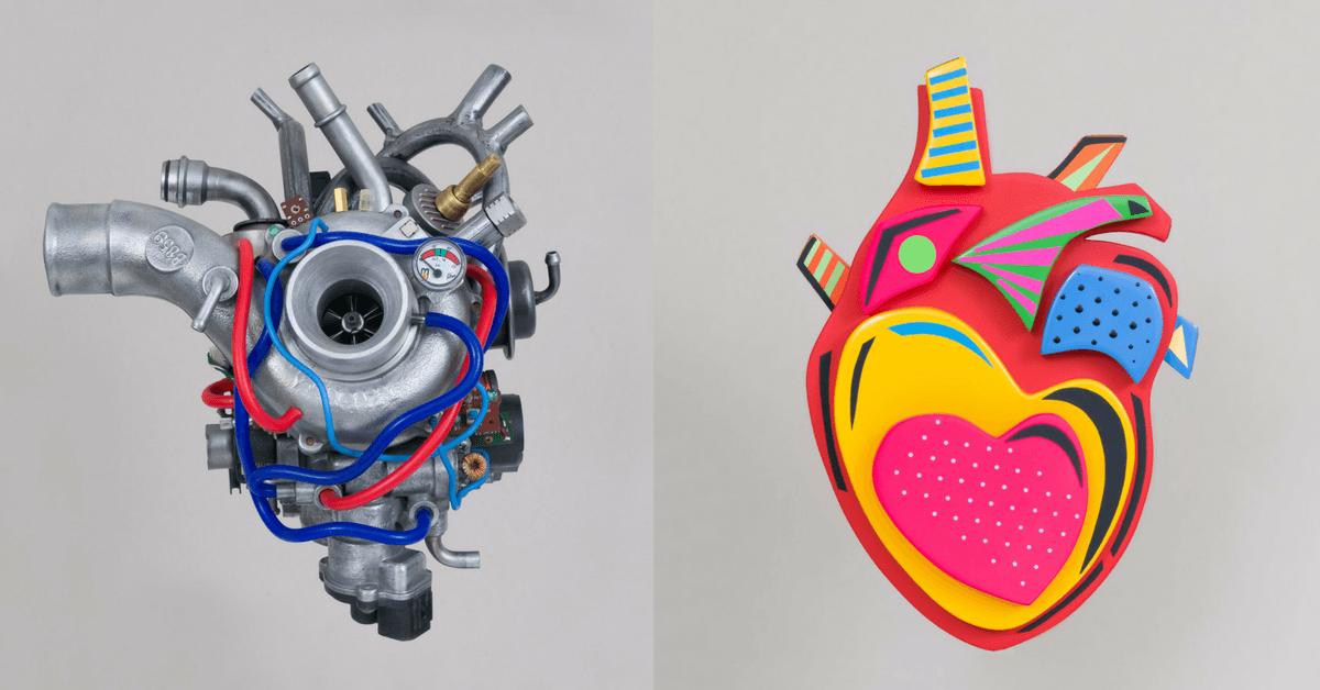 Atık Malzemelerden Anatomik Kalp Heykellerine