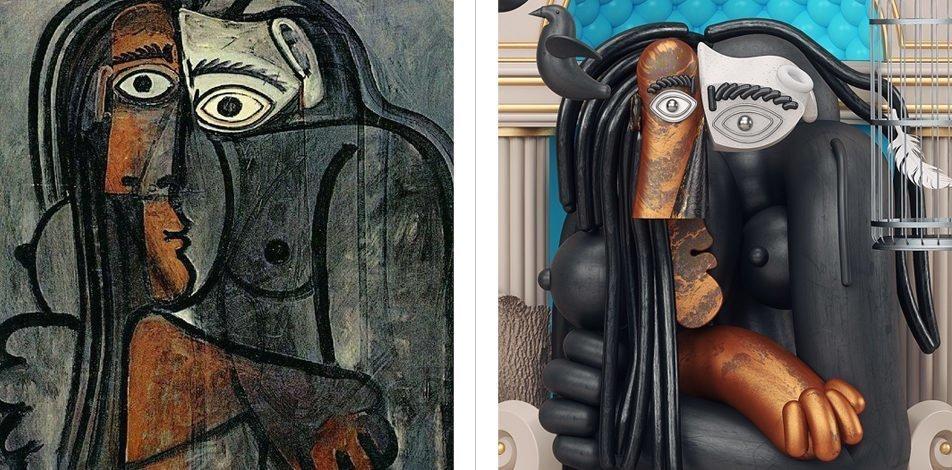 Picasso İmzalı Portrelerin 3 Boyutlu Grafik Versiyonları