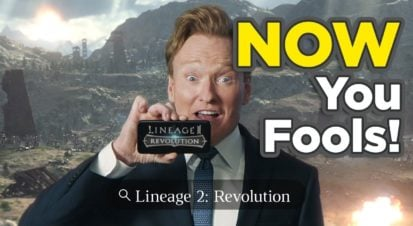 Conan OBrien Lineage2 Revolution Youtube Commercial 4 bigumigu