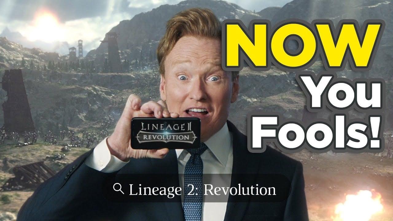 Conan OBrien Lineage2 Revolution Youtube Commercial 4 bigumigu