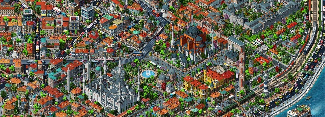 Tarık Tolunay'dan Detay Dolu İllüstratif Harita: Fractal İstanbul