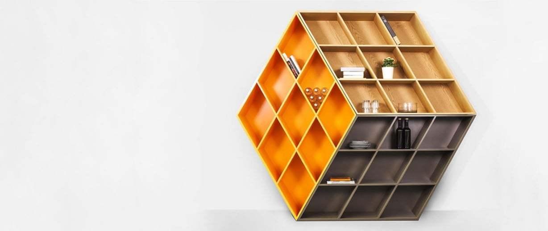 Rubik Küpü Görünümünde Kitaplık
