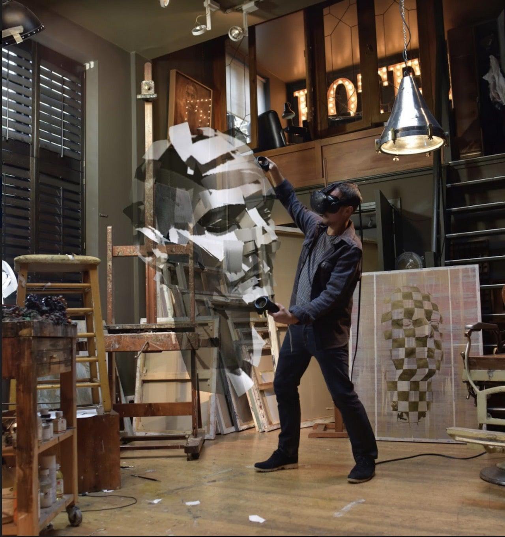Jonathan Yeo'nun Tilt Brush'tan Gerçeğe Dönüşen Heykeli