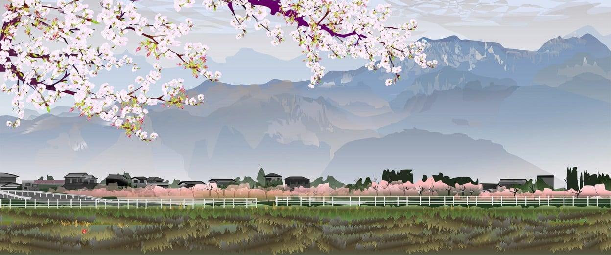 Microsoft Excel ile Japon Manzara Resimleri