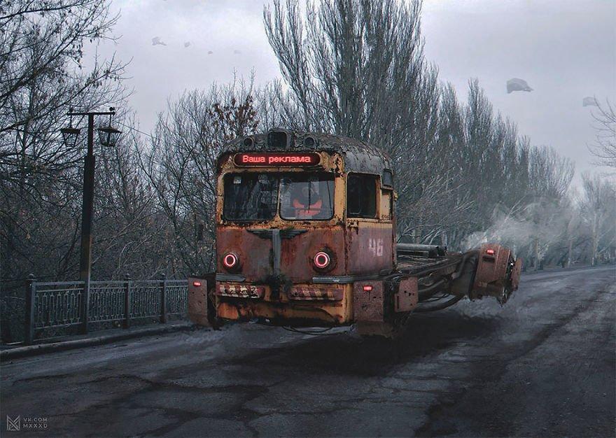 Absürt ve Karanlık Kolajlarla 2046 Rusya'sı
