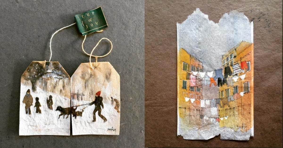 Çay Poşetlerindeki Minyatür Tablolar