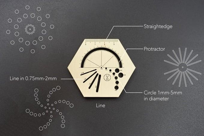 cetvel_hexagonal ruler_yuan design studio_hong kong_bigumigu
