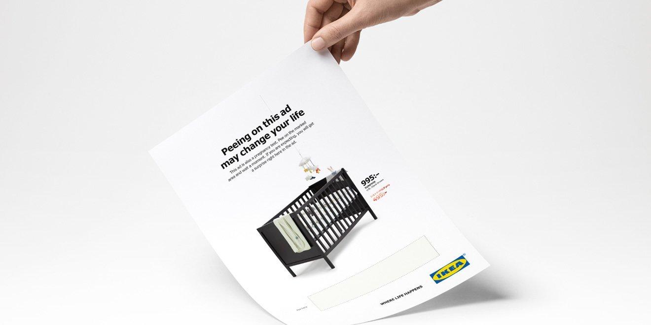 IKEA'nın Yeni İlanında Sonuç Pozitifse Beşikte İndirim Var