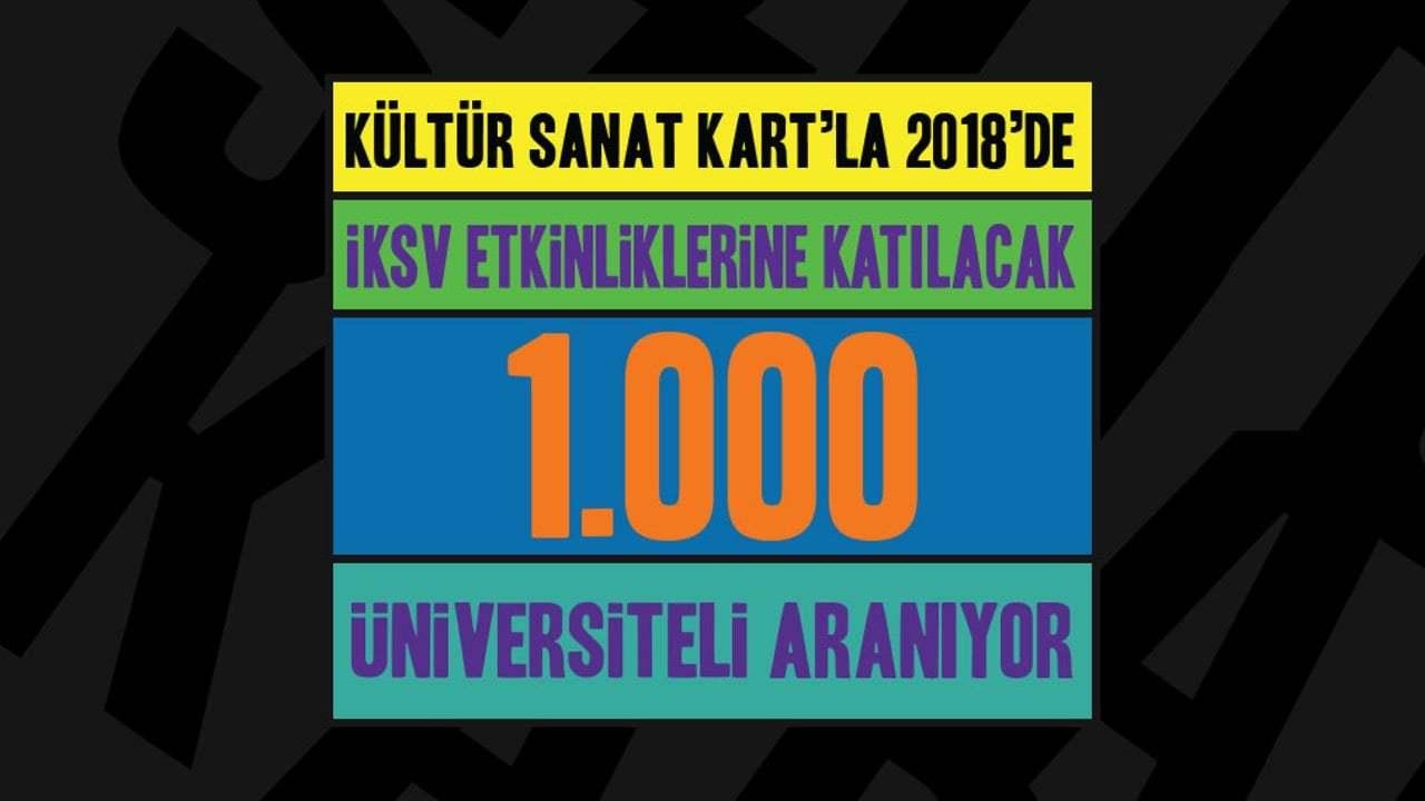 İKSV Kültür Sanat Kart Projesi 1.000 Yeni Öğrenci Arıyor